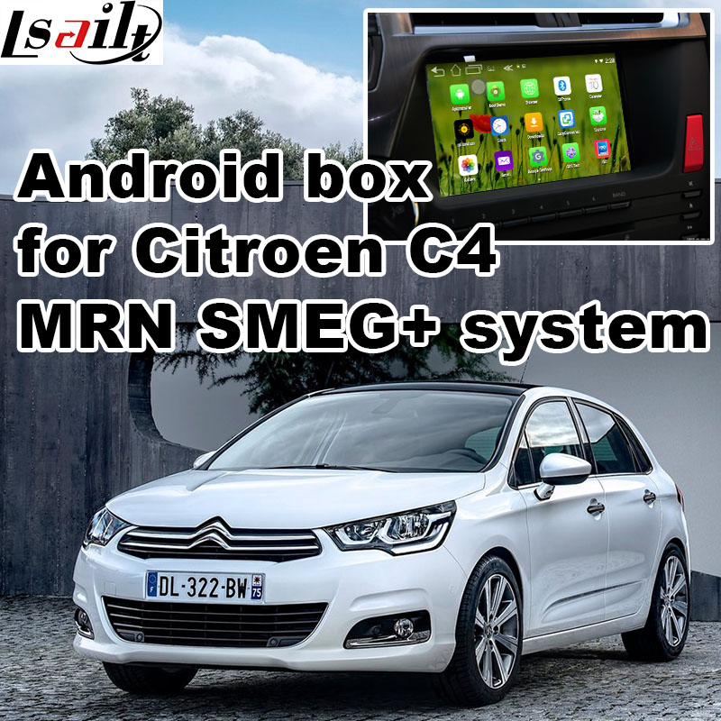 Android 5 1 GPS navigation box video interface for Citroen C4 MRN SMEG system with youtube