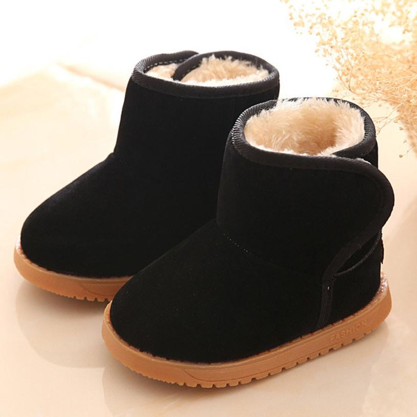 Snow Boots Winter Baby Child Style Cotton Boot Warm Snow Boots Baby Girl Winter Shoes Tenis Infantil