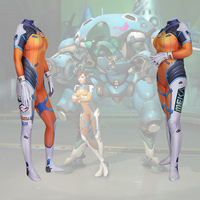 D.Va OW Blueberry Skin Costume D.Va OW Blueberry Skin Bodysuit D.Va OW Blueberry Skin Zentai suit free delivery