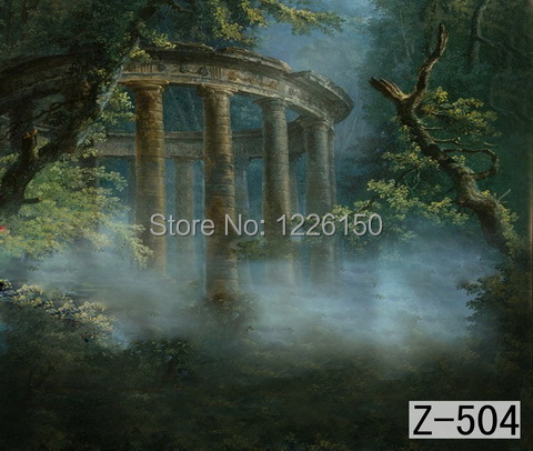 Mysterious scenic Backdrop z-504,10ft x20ft Hand Painted Photography Background,estudio fotografico,backgrounds for photo studio spring scenic backdrop 013 10ft x20ft hand painted muslin photography background estudio fotografico photo studio backdrop