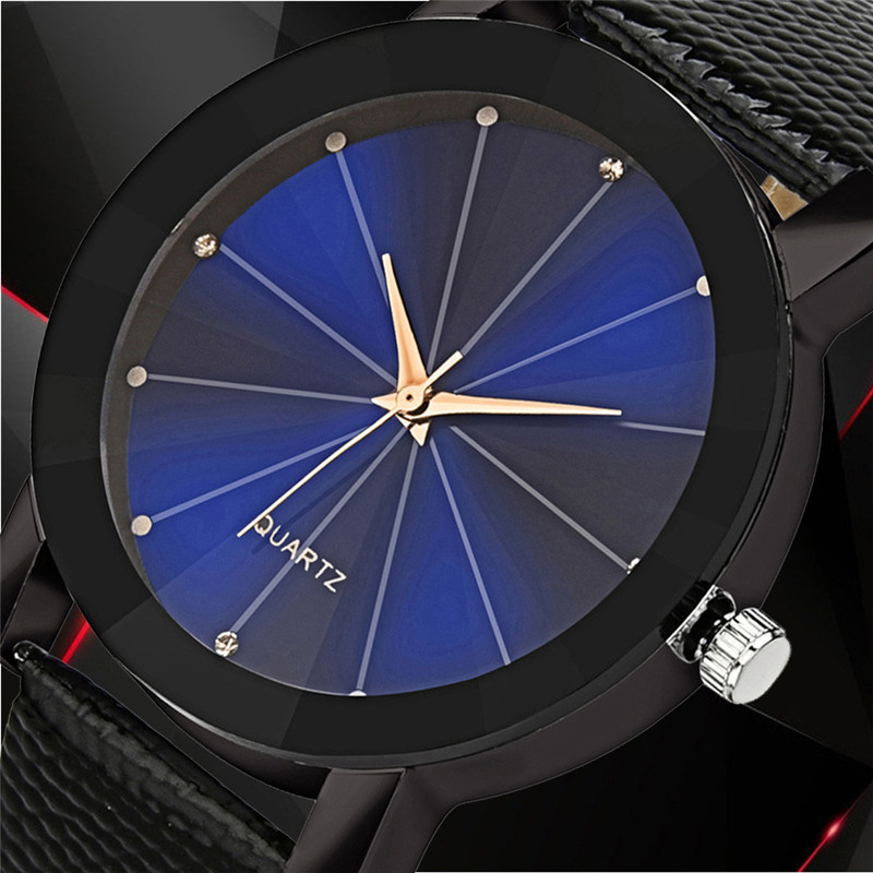 New Men Watch Luxury Quartz Clock Sport Military Stainless Steel Dial Leather Band Wrist Watch Best Sell Relogio Male Gifts QC7