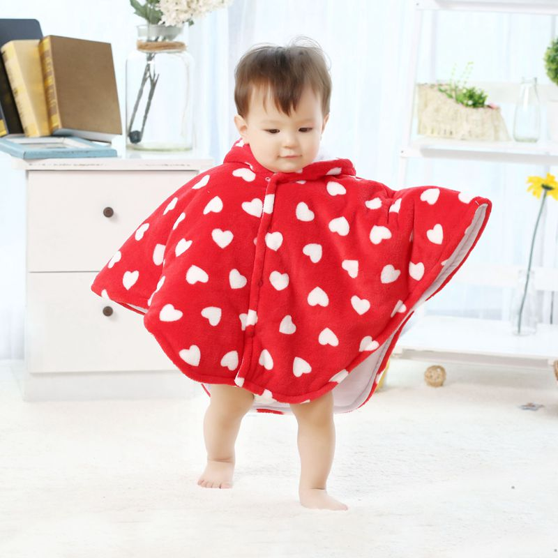 new coral fleece hooded baby poncho kids outwear Jumpers mantle Childrens clothing kids clothes boys girls ponch