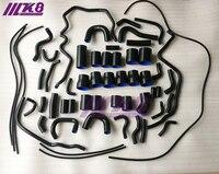 Silikon Kühler & Turbo Schlauch Kit Für Nissan 300ZX VG30DETT Z32 1990 1999 (9 stücke) ROT/BLAU/SCHWARZ-in Schläuche & Klemmen aus Kraftfahrzeuge und Motorräder bei