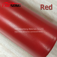 High quality Red Leather Grain Vinyl Leather Vinyl film for car Internal Decoration Size:1.52*30m/Roll by free shipping