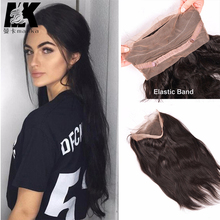 360 Lace Frontal Closure Brazilian Virgin Unprocessed Hair Straight Lace Pre Plucked 360 Lace Frontal Closure With Baby Hair