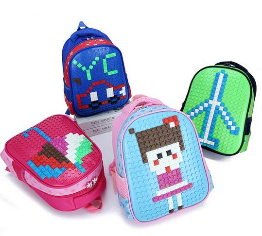 Designer Cartoon School Bags Kids Baby Bags Creative DIY Puzzle School Backpack Girls Boys Children School Bag Mochila InfantilDesigner Cartoon School Bags Kids Baby Bags Creative DIY Puzzle School Backpack Girls Boys Children School Bag Mochila Infantil