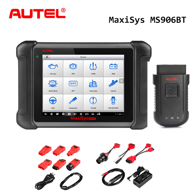Autel MaxiSys MS906BT OBD2 Scanner Auto Diagnostic Tool Key Programmeur Auto Tool Volledige Systeem ECU Codering Beter dan Launch X431