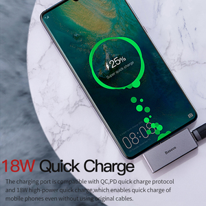 Image 3 - Baseus USB Type C to 3.5mm Jack Headphone AUX OTG Adapter For Huawei P30 Xiaomi Samsung Note 10 Plus USB C Fast Charge Splitter