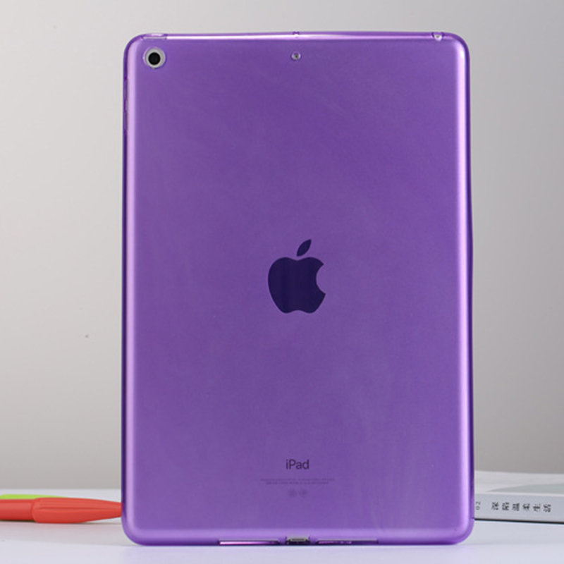 Purple Soft TPU Back Case multocolor or Transparent For Apple Ipad pro 2017 12.9 inch + gifts