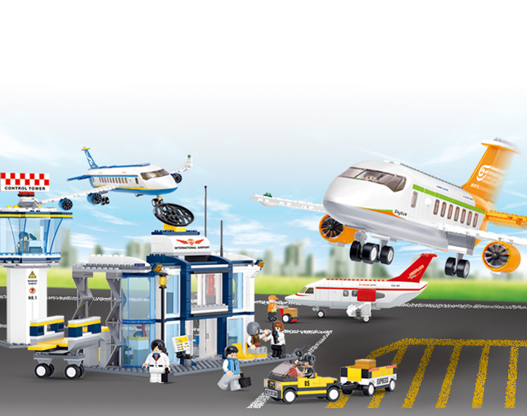 City airport Plane toy AirBus Model Airplane Building Blocks bricks DIY sets Toys Compatible legoes gift kid set city boy toys 0367 sluban 678pcs city series international airport model building blocks enlighten figure toys for children compatible legoe
