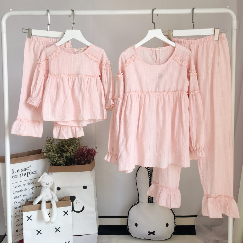 Family Matching Clothes Suits Mother and Daughter Pajamas ...