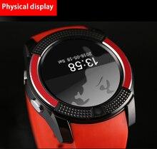 """Voll Runde 1,22 """"Touch Screen Smart Watch V8 + Musik-player Für iOS Android Phone Bluetooth Smartwatch Mit SIM TF PK U8 DZ09"""