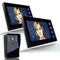 """7"""" Color Video Door Phone Intercom System 2 Monitor Doorbell 1 Camera Intercom Kit IR Night Vision Camera for Apartment 816A12"""