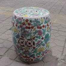 Superb Jingdezhen Indoor Ceramic Antique Home Drum Porcelain Garden Stool Glazed  Hand Painted Round Porcelain Antique Garden Stool