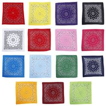 15 Color Ethnic Hip Hop Bandana Handkerchief Retro Location Paisley Floral Print Unisex Sport Cycling Square Scarf Headwear Mask square scarf with paisley print