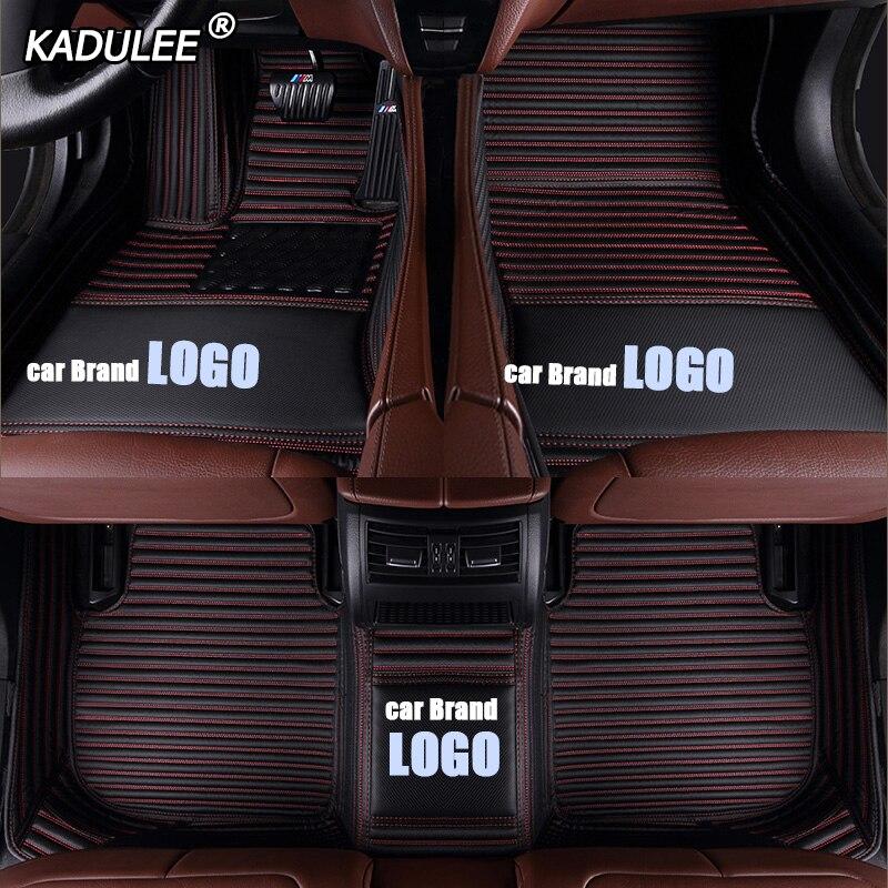 KADULEE tapis de sol de voiture pour Land Rover freelander 2 discovery 3 evoque Range Rover faire tapis imperméable personnalisé avec logo