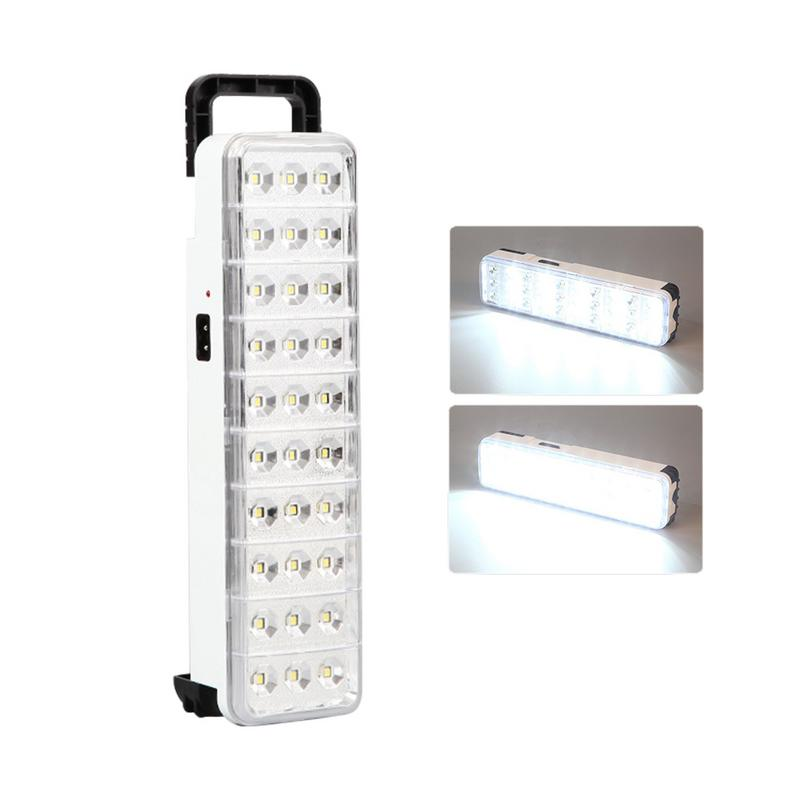 New 60LED Multi-function Rechargeable Emergency Light Flashlight Mini 30 LED Emergency Light Lamp 2 Mode For Home Camp Outdoor portable hook multi functional led light lamp emergency super bright lights camp rechargeable battery handle lanterns