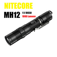 Nitecore MH12 Tactical Flashlight Cree XM L2 1000 Lumens USB Charging Camping Searching Hand Light