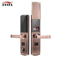 Отпечатков пальцев замок для домашней противоугонной двери замок Keyless Smart Lock с цифровой пароль RFID разблокирована