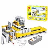 286 pz Macchine Dominoe Macchina di Montaggio FAI DA TE Blocchi di Costruzione 4 In 1 Modello Giocattoli Educativi Per Bambini 1405