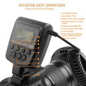 Image 4 - Travor 48PCS LED Macro Ring Sáng RF 550D Tốc Dành Cho Nikon Canon Olympus Pentax 8 Adapter Ring/4 Đèn Flash Máy Khuếch Tán Tinh Dầu
