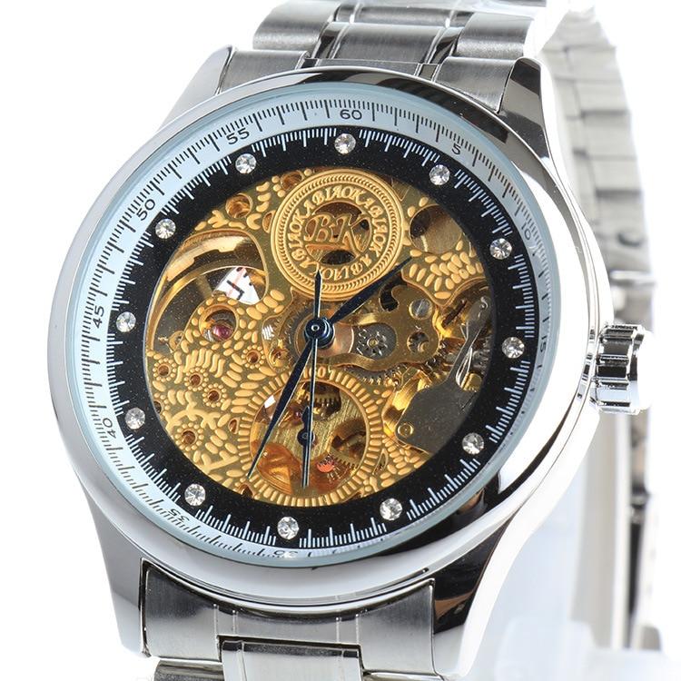 Men BIAOKA Gold Watch Watches Top Brand Luxury Relogio Male Clock Men Watch Montre Homme Mechanical Skeleton Watch