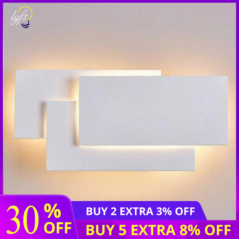 12W LED Wall Sconces Lighting Interior Wall Lamp Contemporary Mounted Lamp With Aluminum Shell for Indoor Bedroom Hotel Light in LED Indoor Wall Lamps from Lights Lighting