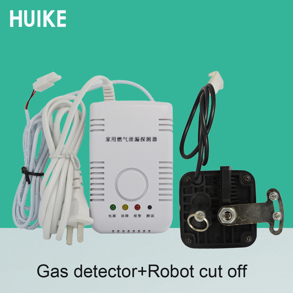 Hot Sale Home Security Protection Natural Gas Leak Detector LPG Coal Gas Leaking Alarm Robot Cut Off Pipe Combustible Gas Sensor