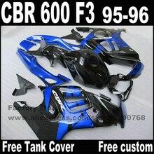 Высокое качество обтекателя комплект для HONDA CBR600 F3 1995 1996 CBR 600 95 96 синий черный обтекатели установить YP24