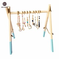 Let's Make Wooden Baby Gym Accessories Play Gym Frame Nursery Decor Montessori Nursery Decor Sensory Toy Charms Without Toy