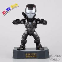 17 Cm Hot Sell 3 Colors Iron Man 2 Mark Iv Egg Attack With Led Light Pvc Action Figure Model Toy Collectibles