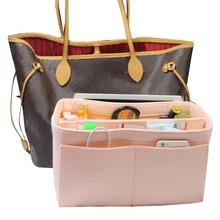 Эксклюзивный настраиваемый фетр сумка-Органайзер (w/съемный карман на молнии) Neverfull Speedy вставить подгузник