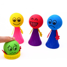 1pc Squeeze Jumping Bounce elf Joke Toys for Children Novelty Bouncing Elf  Toys for Kids Party Game Kindergarten Easter Present