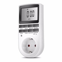 Smart Digital Electronic Power Timer in Switch Socket Digital LCD Power Energy saving Programmable Time Switch
