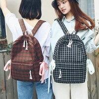 Schoolbag female Korean Harajuku high school students simple Mori girl backpack college style backpack Fashion Backpacks