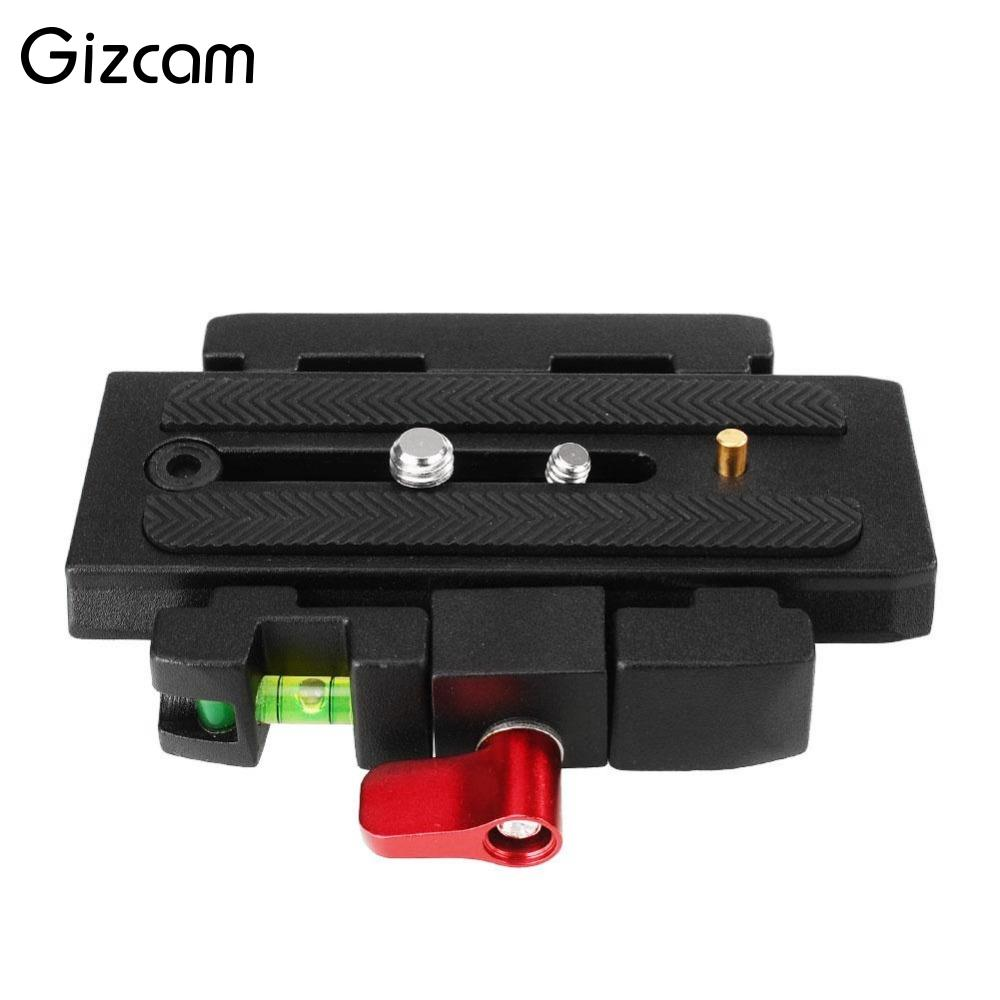 Gizcam Camera Tripod P200 QR Quick Release Plate Assembly Aluminium Alloy Clamp Adapter for Manfrotto 501 500AH 701HDV 503HDV Q5