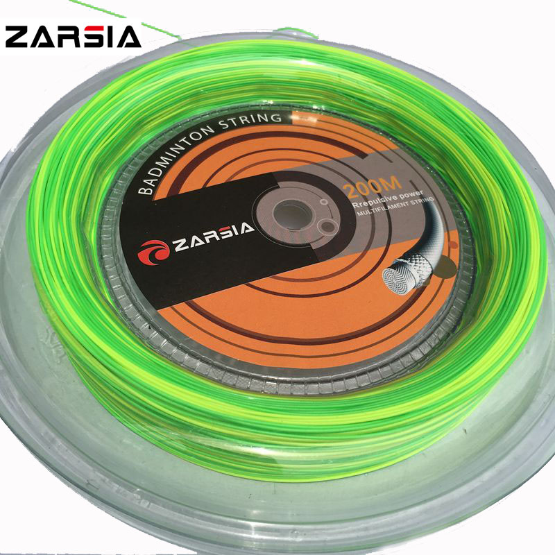 1 Reel / Lot ZARSIA 2-färger Badminton String Reel 200M