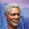 "Morgan Freeman Male Head Sculpts Model Toys 1/6 Scale Man Head Carving Model For 12"" Male Action   Figure Accessory"