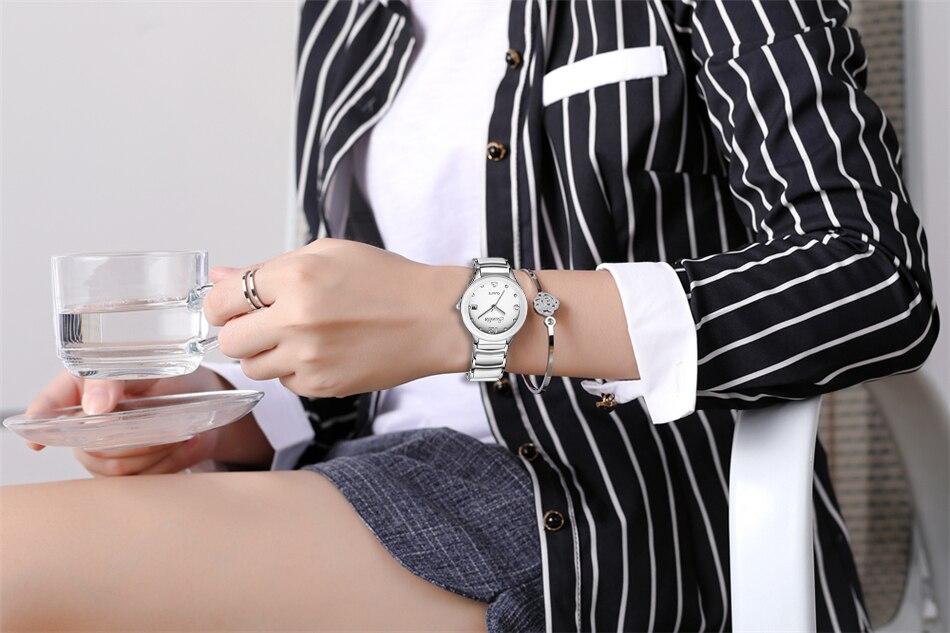 Top de Luxo Da Marca Mulheres Relógio