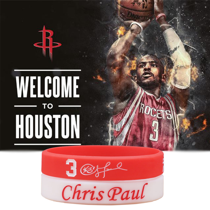 NBAStar Chris Paul Silicone Bracelets Basketball Star