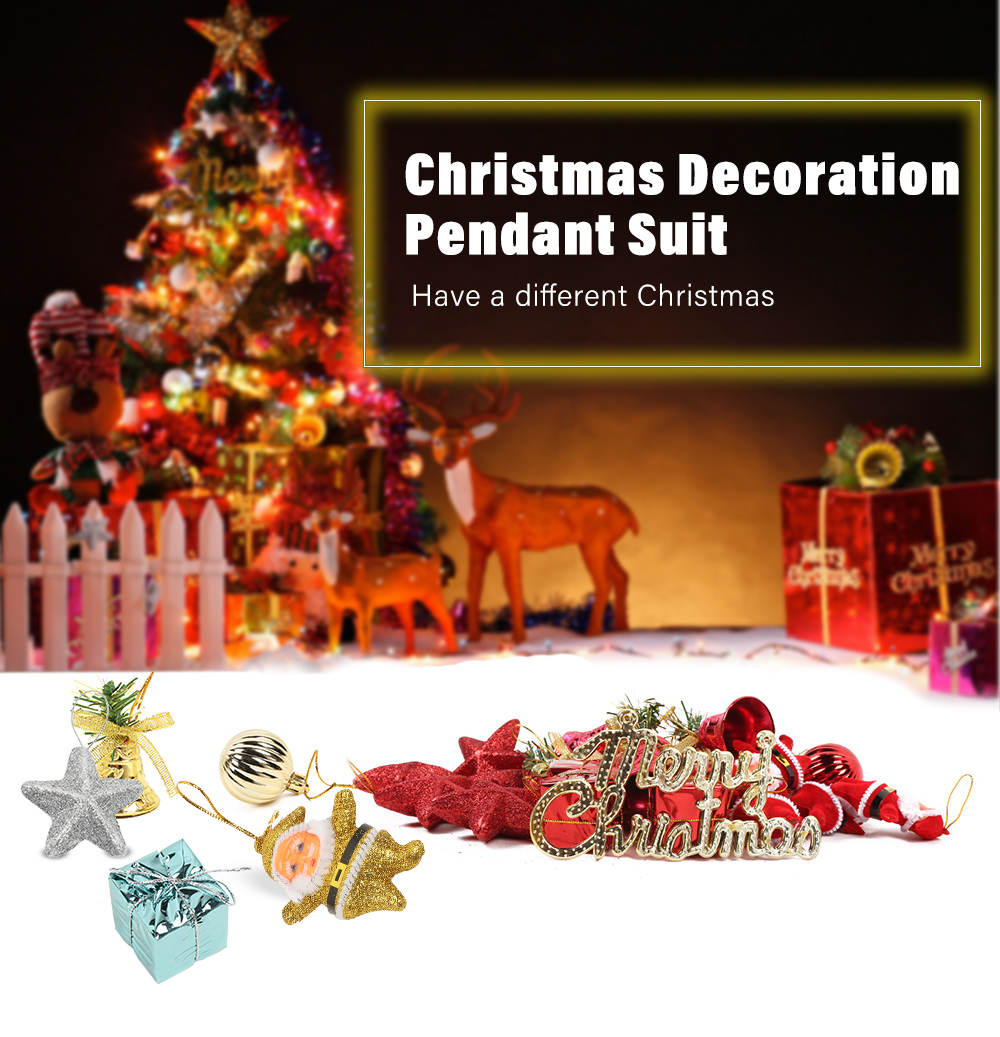 christmas ornaments set make great addition to your christmas and holiday decoration perfect home decor for a variegated display of christmas wedding - Different Christmas Decorations