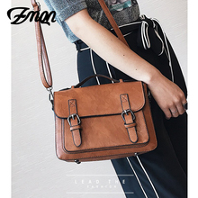 Vintage Bags For Women Messenger Bag PU Leather Small Flap Handbags Famous Brand Retro Shoulder-bag Good Quality Cover C202