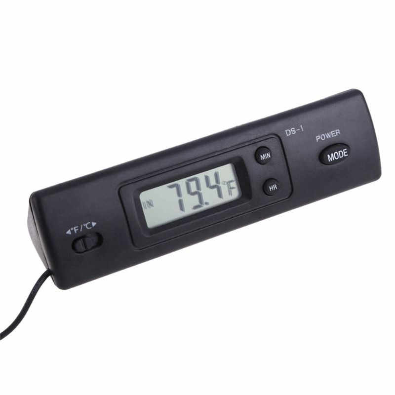 Модный Удобный прочный цифровой термометр портативный полезный автоматический ЖК-дисплей в часы для автомобиля авто дома автомобиля #291520