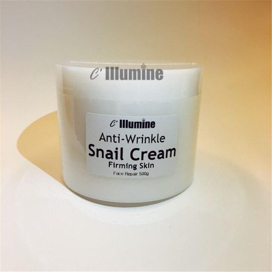 Crème d'escargot pour le visage blanchissant hydratant éclaircissant crème raffermissante produits de levage Salon de beauté Pores Senium 500g