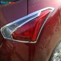 Voor Nissan Tiida 2011 ABS Chroom Achterlicht Lamp Decoratie Cover Rear Lamp Trim Auto Styling Auto Accessoires 2 stuks