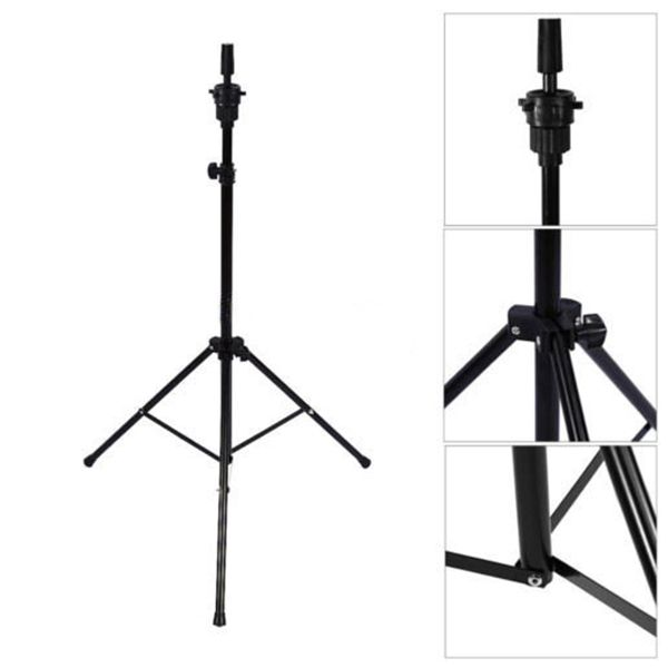 Image 4 - Adjustable Tripod Stand Holder Mannequin Head Tripod Hairdressing Training Head Holder Hair Wig Stand Tool-in Wig Stands from Hair Extensions & Wigs