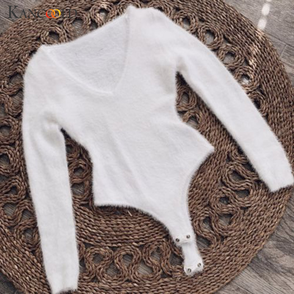 KANCOOLD Jumpsuit Women Lady Long Sleeve Shirt Romper Bodysuit Stretch Leotard Top Fashion Party New Jumpsuit Sexy 2019JAN4