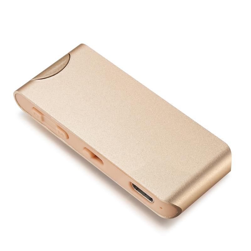 Enregistrement à distance sans fil métal lecture MP3 Radio FM 1024 Kbps PCM enregistreur vocal haute fidélité avec aimant attacher 8 GB 16 GB