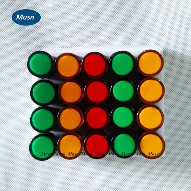 50 unids/lote indicador AD16-16DS lámpara de señal LED rojo/Verde/Huang/azul/blanco