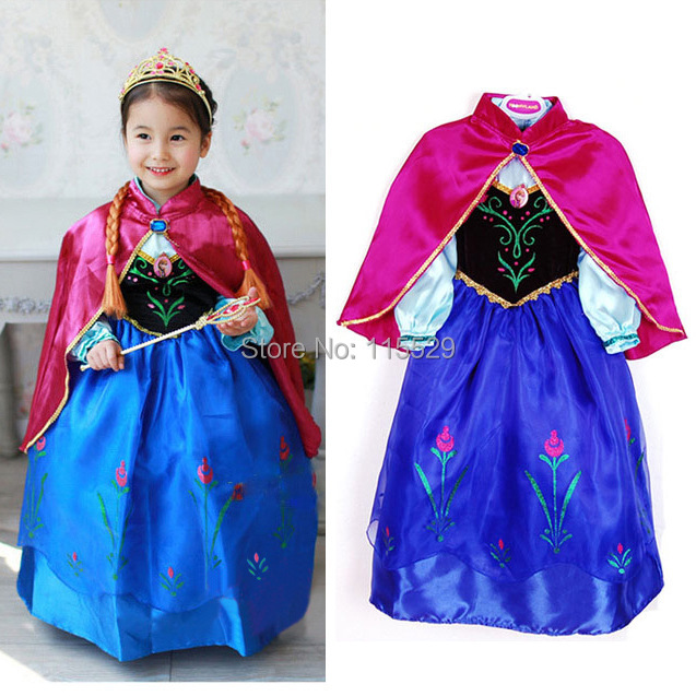 Classic Deluxe Frozen Elsa Costume Frozen Anna Dress For Halloween Elsa Dress Cosplay Costume  sc 1 st  AliExpress.com & Classic Deluxe Frozen Elsa Costume Frozen Anna Dress For Halloween ...